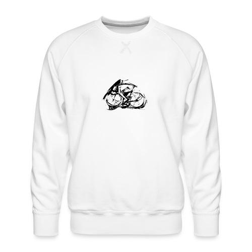 futuristischer radfahrer - Männer Premium Pullover