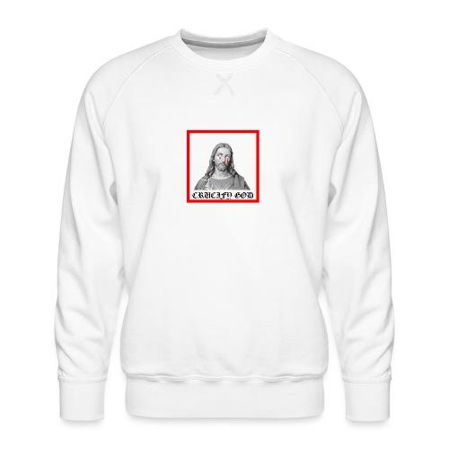 Crucify God | Sad Jesus - Miesten premium-collegepaita