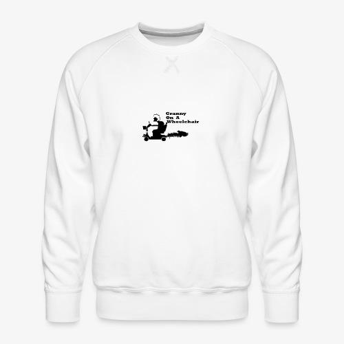 granny on a wheelchair - Men's Premium Sweatshirt