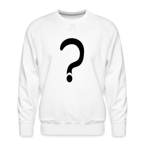 fragezeichen, wieso weshalb warum - Männer Premium Pullover