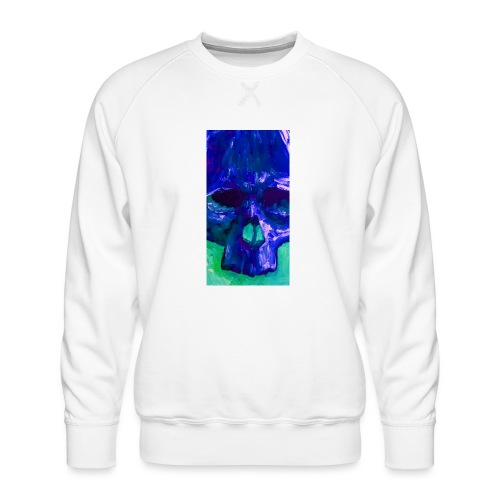 Blue Skull - Mannen premium sweater