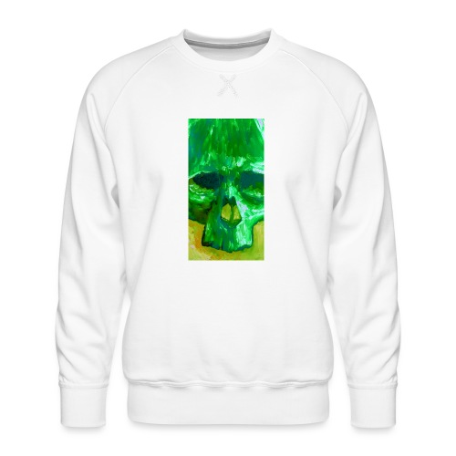Green Skull - Mannen premium sweater