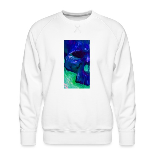 Blue Skull #2 - Mannen premium sweater