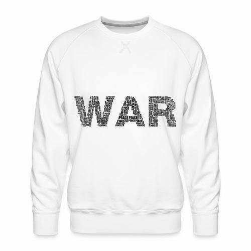 Napis stylizowany War and Peace - Bluza męska Premium
