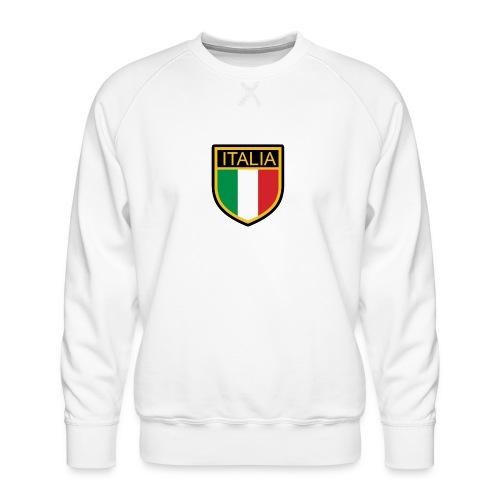 SCUDETTO ITALIA CALCIO - Felpa premium da uomo