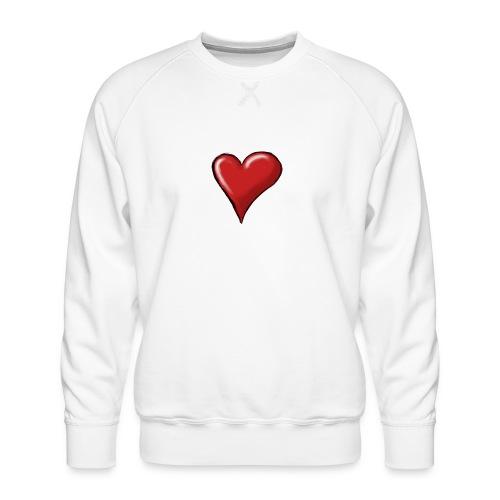 Love (coeur) - Sweat ras-du-cou Premium Homme