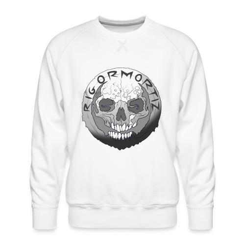 Rigormortiz Black and White Design - Men's Premium Sweatshirt