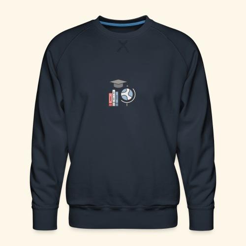 teacher knowledge learning University education pr - Herre premium sweatshirt