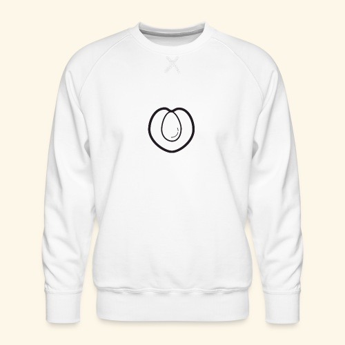 fruits and veggies icons peach 512 - Herre premium sweatshirt