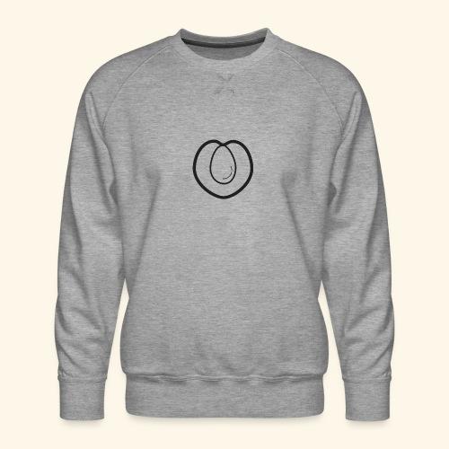 fruits and veggies icons peach 512 - Herre premium sweatshirt