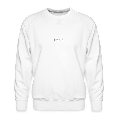 BROOR logo 1 and 6 - Mannen premium sweater