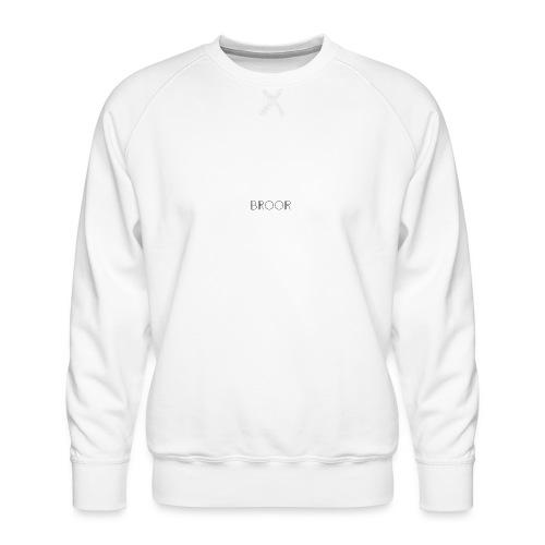 BROOR logo 1 - Mannen premium sweater