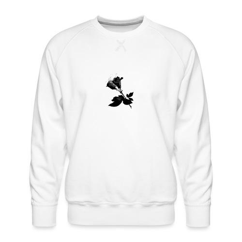 Black and White Rose Bundle - Men's Premium Sweatshirt