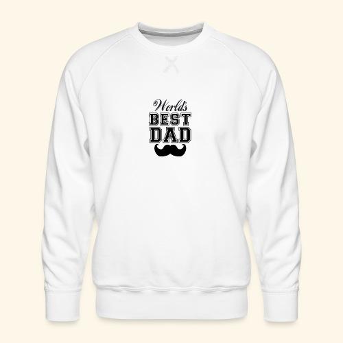 Worlds best dad - Herre premium sweatshirt