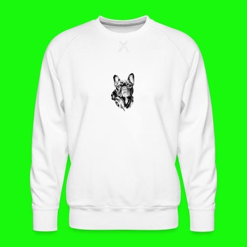 Small_Dog-_-_Bryst_- - Herre premium sweatshirt