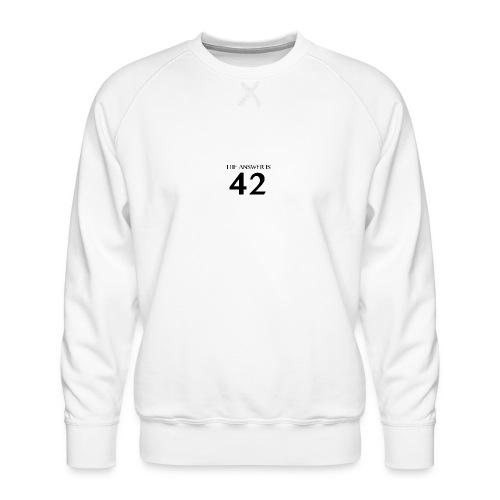 The Answer is 42 Black - Men's Premium Sweatshirt