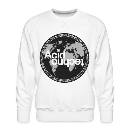 acid techno world - Bluza męska Premium