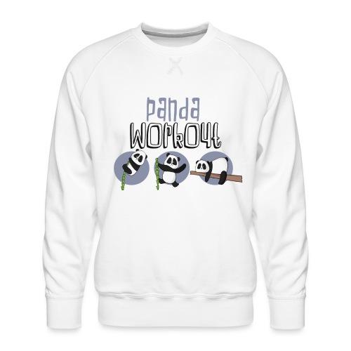 Panda Workout Fitness für Genießer und Faulenzer - Männer Premium Pullover