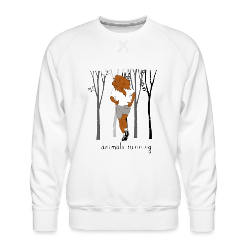 Lion running - Sweat ras-du-cou Premium Homme