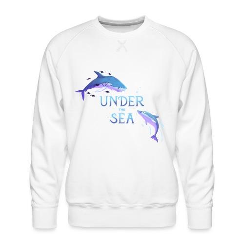 Under the Sea - Shark and Dolphin - Men's Premium Sweatshirt
