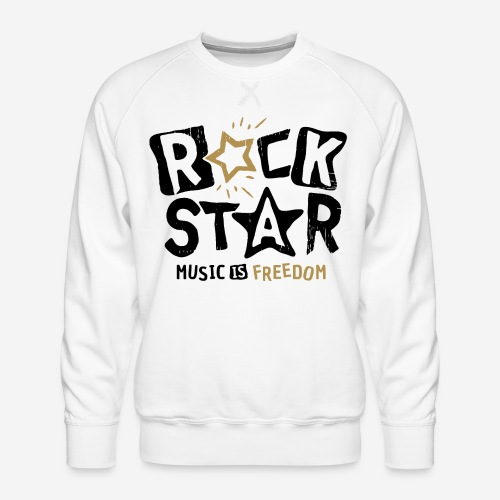 rock star music freedom - Männer Premium Pullover