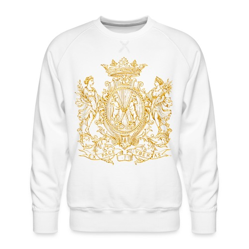 Peace and prosperity coat of arms - Sudadera premium para hombre