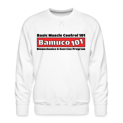 Bamuco101Big Logo WhiteOnRed - Miesten premium-collegepaita