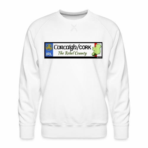 CO. CORK, IRELAND: licence plate tag style decal - Men's Premium Sweatshirt