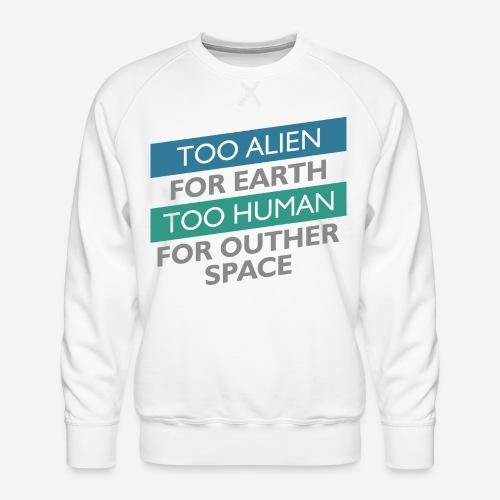 alien space astronaut - Männer Premium Pullover