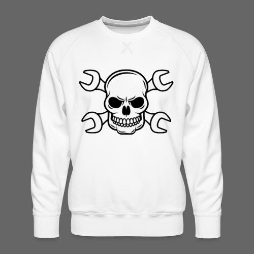 MEKKER SKULL - Herre premium sweatshirt