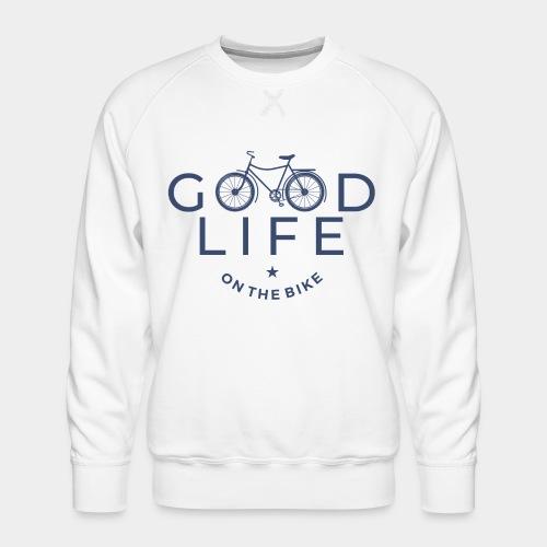 cycliste bonne vie - Sweat ras-du-cou Premium Homme