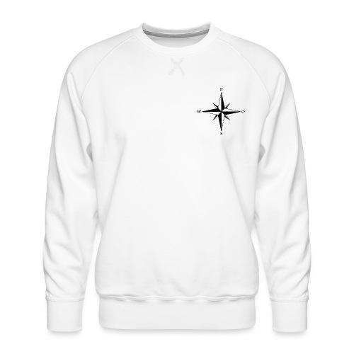 Kompas sort - Herre premium sweatshirt