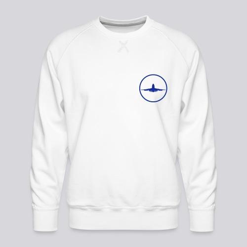 IVAO (symbole bleu) - Sweat ras-du-cou Premium Homme