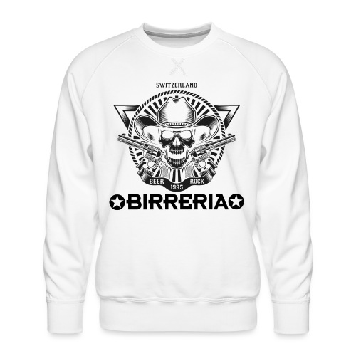 Sheriff Skull with Revolver - Männer Premium Pullover