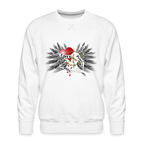 Love, Peace and Hope - Liebe, Frieden, Hoffnung - Männer Premium Pullover