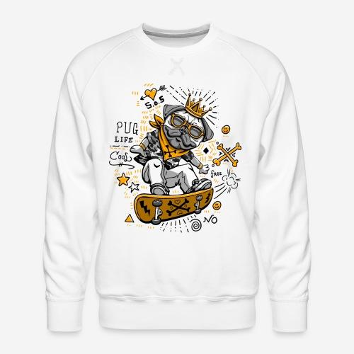 dog skate skateboard - Männer Premium Pullover