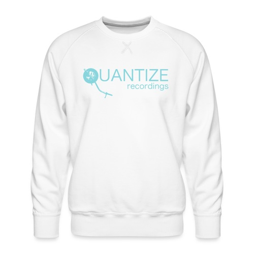 Quantize Blue Logo - Men's Premium Sweatshirt