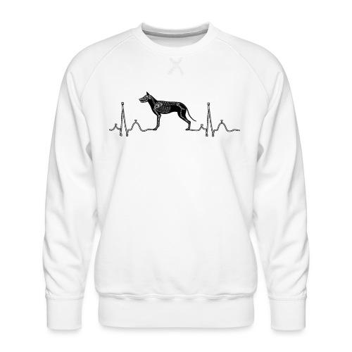 ECG met hond - Mannen premium sweater