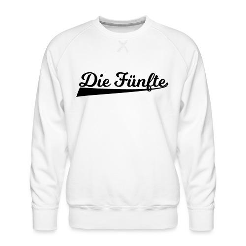 Die Fünfte Retro - Schwarz - Männer Premium Pullover
