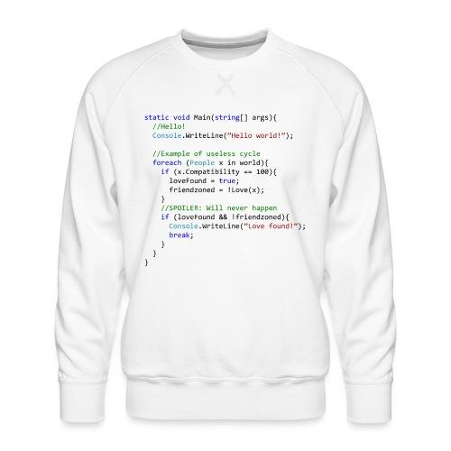 Love seen by a C# programmer - Felpa premium da uomo