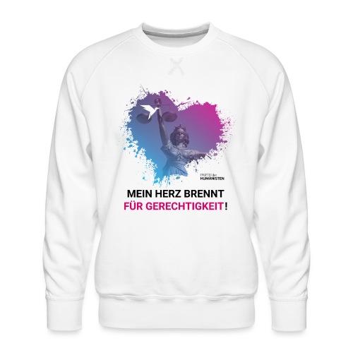 Mein Herz brennt für Gerechtigkeit! - Männer Premium Pullover