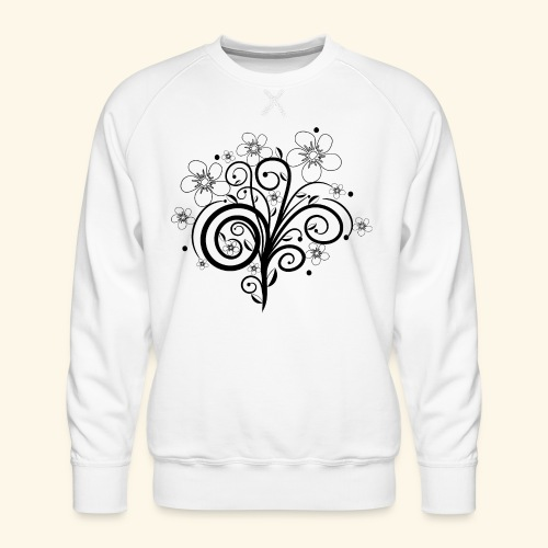 Blumenranke, Blumen, Blüten, floral, Ornamente - Männer Premium Pullover