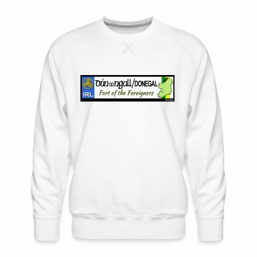 DONEGAL, IRELAND: licence plate tag style decal - Men's Premium Sweatshirt