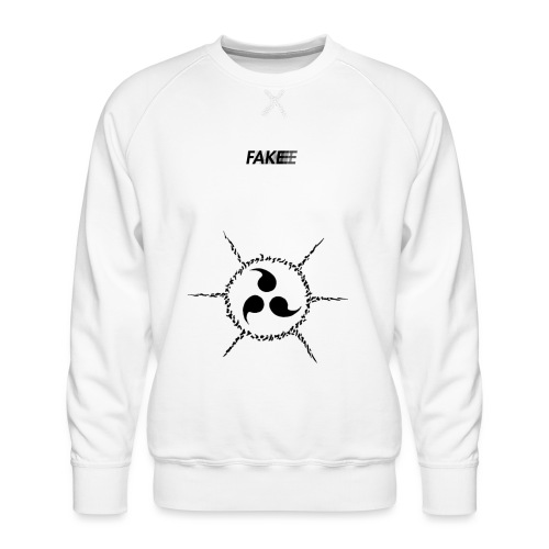 fake logo trasparent tribal - Felpa premium da uomo