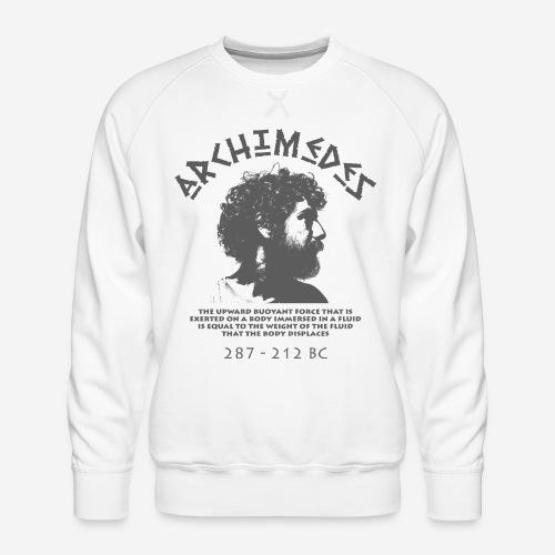 archimedes greek fluid - Männer Premium Pullover