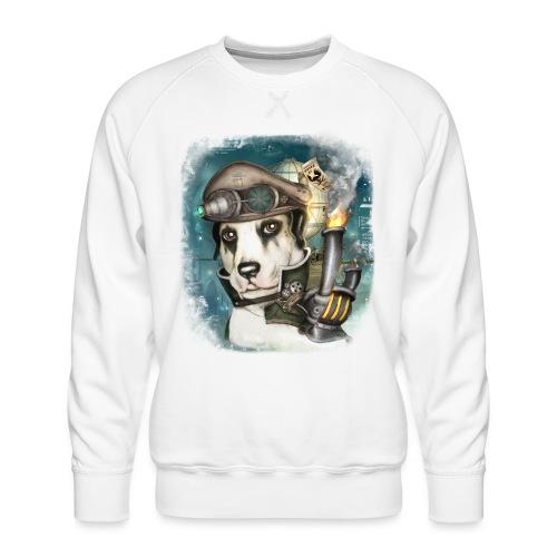 Steampunk Dog #2b - Felpa premium da uomo