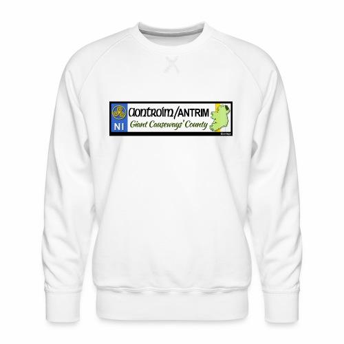 CO. ANTRIM, NORTHERN IRELAND licence plate tags - Men's Premium Sweatshirt