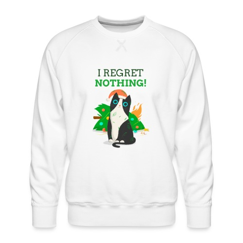 Julegenser med katt - I regret nothing - Premium-genser for menn