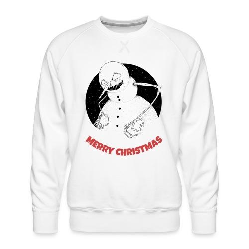Julegenser med skummel snømann - Premium-genser for menn