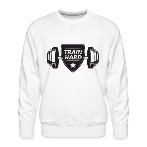 Train Hard - Herre premium sweatshirt